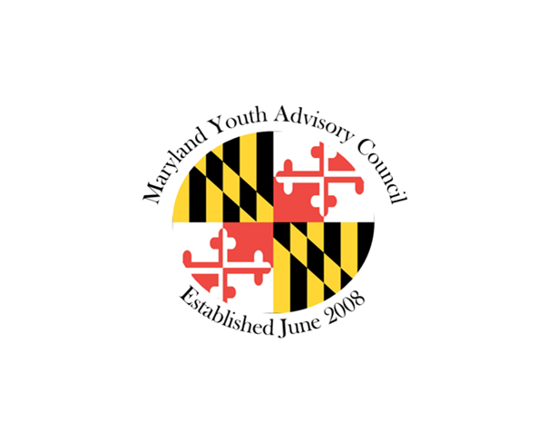 Maryland Youth Advisory Council Logo with Maryland flag